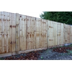 Feather Edge Fence Panel - 1.8M x 1.8M (6' x 6')