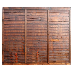 Waney Edge Fence Panel - 1.8M x 1.8M (6' x 6')
